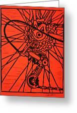 Derailluer Greeting Card by William Cauthern