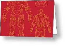 Iron Man Greeting Card by Caio Caldas