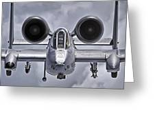 A-10 Thunderbolt II Greeting Card by Adam Romanowicz