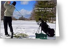 A Bad Day On The Golf Course Greeting Card by Frozen in Time Fine Art Photography