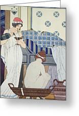 A Bath Seat Greeting Card by Joseph Kuhn-Regnier