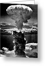 A-bomb Greeting Card by Benjamin Yeager