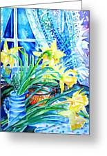 A Bouquet Of April Daffodils  Greeting Card by Trudi Doyle
