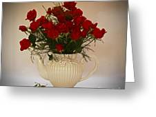 A Bouquet Of Red Rose Tea Greeting Card by Inspired Nature Photography By Shelley Myke