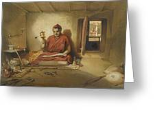 A Buddhist Monk, From India Ancient Greeting Card by William 'Crimea' Simpson