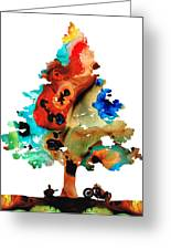 A Certain Kind Of Freedom - Guitar Motorcycle Art Print Greeting Card by Sharon Cummings
