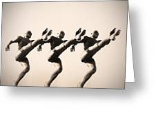 A Chorus Line Greeting Card by Bill Cannon