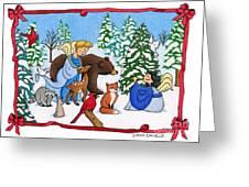 A Christmas Scene 2 Greeting Card by Sarah Batalka
