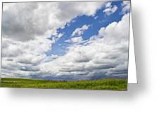 A Cloudy Day Greeting Card by Lisa Plymell