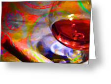 A Cognac Night 20130815 Greeting Card by Wingsdomain Art and Photography