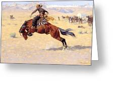 A Cold Morning On The Range  Greeting Card by Frederic Remington