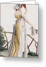 A Country Style Ladies Dress Greeting Card by Pierre de La Mesangere