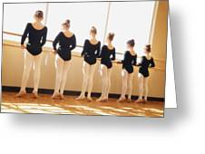 A Dance Class Greeting Card by Don Hammond