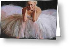 A Dancer's Ode To Marilyn Greeting Card by Anna Rose Bain