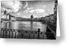 A Day In Lucerne Greeting Card by Mountain Dreams