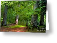 A Day In The Forest Greeting Card by Lutz Baar