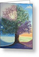 A Day In The Tree Of Life Greeting Card by Stanza Widen