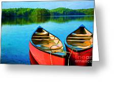 A Day On The Lake Greeting Card by Darren Fisher