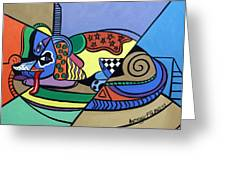 A Dog Named Picasso Greeting Card by Anthony Falbo