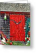 A Door In Maine Greeting Card by Darren Fisher