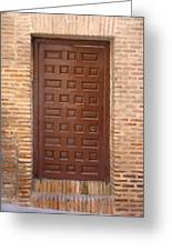 A Door In Toledo Greeting Card by Roberto Alamino