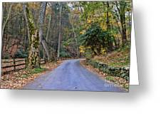 A Drive In The Country Greeting Card by Paul Ward