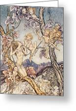 A Fairy Song From A Midsummer Nights Dream Greeting Card by Arthur Rackham