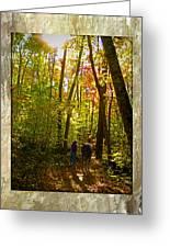 A Fall Walk With My Best Friend Greeting Card by Sandi OReilly