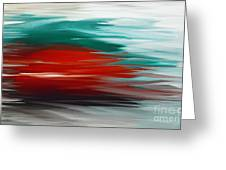 A Frozen Sunset Abstract Greeting Card by Andee Design