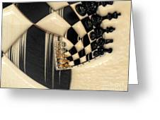 A Game Of Chess Greeting Card by Liane Wright