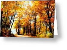A Golden Day Greeting Card by Lois Bryan
