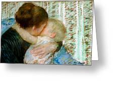 A Goodnight Hug  Greeting Card by Mary Stevenson Cassatt