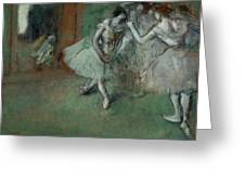 A Group Of Dancers Greeting Card by Edgar Degas