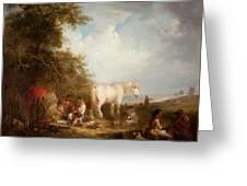 A Gypsy Scene Greeting Card by Edward Robert Smythe
