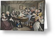 A Harlots Progress, Plate Vi Greeting Card by William Hogarth