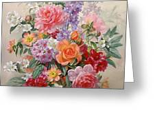 A High Summer Bouquet Greeting Card by Albert Williams