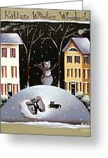 A Kitten Winter Wonderland Greeting Card by Catherine Holman