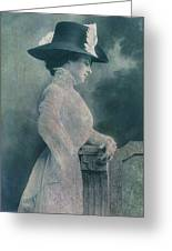 A Lady Ponders Greeting Card by Sarah Vernon