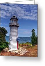 A Little Lighthouse Greeting Card by Mel Steinhauer