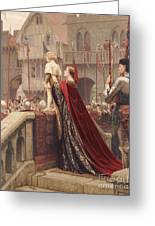 A Little Prince Likely In Time To Bless A Royal Throne Greeting Card by Edmund Blair Leighton