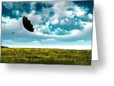 A Little Windy Greeting Card by Bob Orsillo
