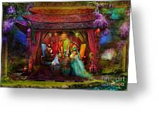 A Mad Tea Party Greeting Card by Aimee Stewart