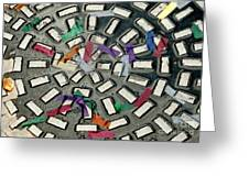 A Maze In Abstract Greeting Card by Michael Hoard
