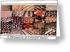 A Menagerie Of Colorful Quilts -  Autumn Colors - Quilter Greeting Card by Barbara Griffin