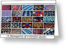 A Menagerie Of Colorful Quilts  Greeting Card by Barbara Griffin