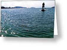 A Moment Of Enjoy Sup #1 Greeting Card by Chikako Hashimoto Lichnowsky