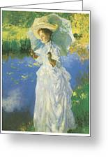 A Morning Walk Greeting Card by John Singer Sargent