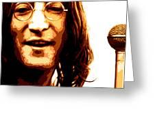A Myth Of Peace Series 1 Lennon2 Greeting Card by Joel Loftus