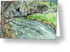 A New Outlook   The New River Ashe County North Carolina Greeting Card by Elizabeth Briggs