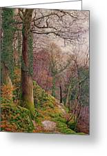 A Path In The Wood Greeting Card by Edward Bentley